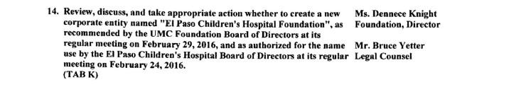 UMC Board Agenda